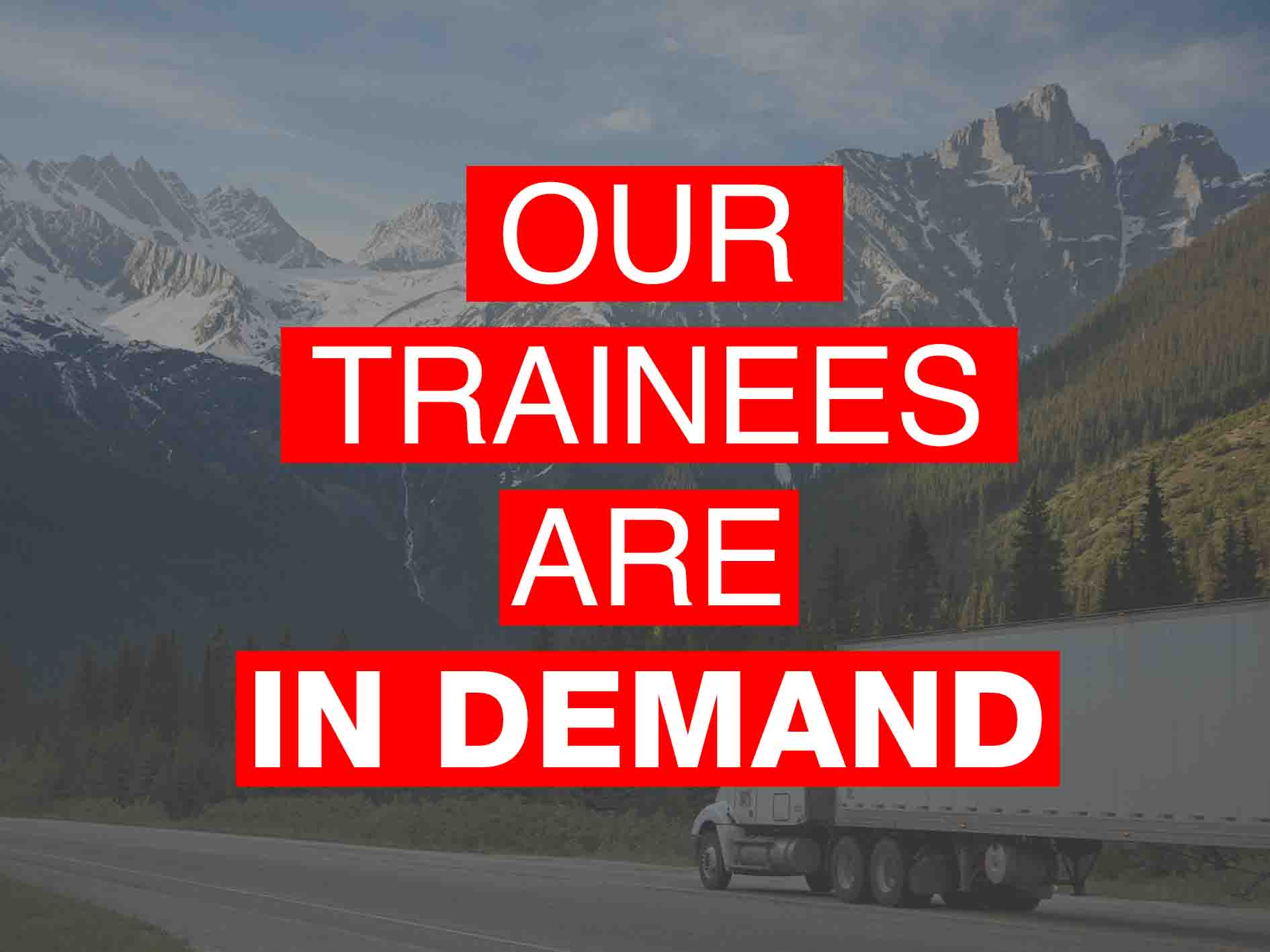 Our HGV Trainees Are In Demand